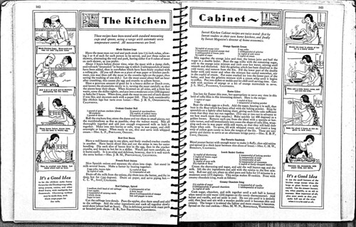 Kitchen Cabinet Cookbook, pgs 162-163