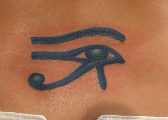 Blue Eye of Ra Tattoo. Paulo Madeira Tattoo Artist and BodyPiercer