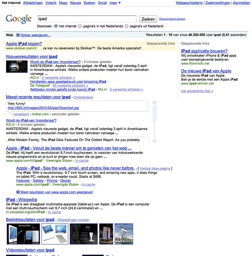 Current Google Search Results layout