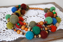 earth color necklace (Studio SOIL) Tags: wooden necklace beads crafts felt etsy collar earthcolors