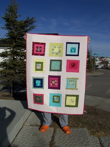 Modern Wonky Baby quilt