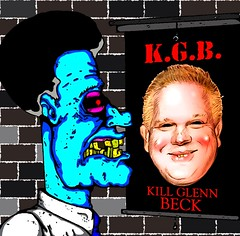 Sneed: K.G.B. (IWH844) Tags: streetart art politics stickers foxnews glennbeck sneed iwh844