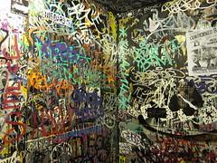 (break.things) Tags: nyc newyorkcity ny newyork drunk bathroom graffiti sticker manhattan adek kerse btm hso malvo