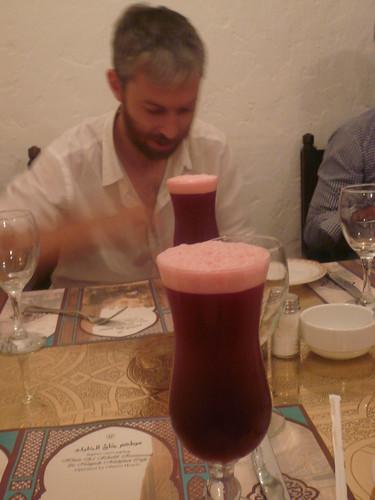 Hibiscus drink at Naguib Mahfouz Café