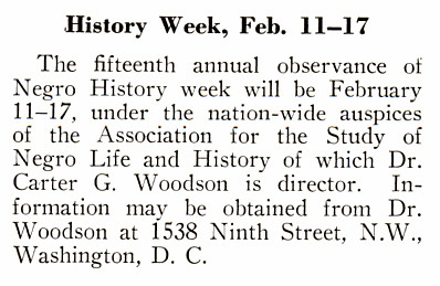 The 15th Annual Negro History Week Observance - Crisis Magazine, February, 1940