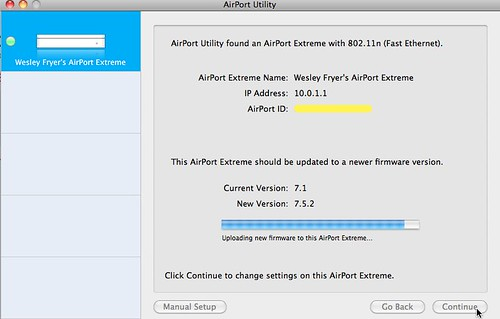 Updating Airport Extreme Firmware