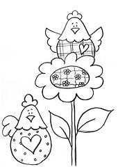 Risco Galinhas (Acrilex) Tags: artesanato animais artes bichinhos riscos acrilex