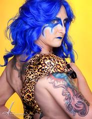 Amazonian from series Hear Me Roar (E. Gene Chambers Photography) Tags: yellow blue canon canon50d 50d tattoo ma mass massachusetts queen drag bra veronica amazonian egcphotography egenechambers hearmeroar