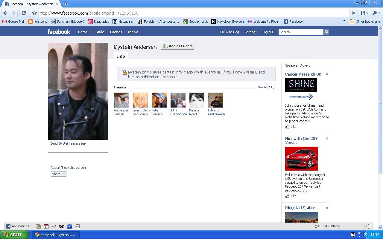 øystein facebook