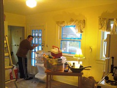 Scott taping kitchen