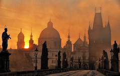 Charles Bridge, Prague (Ian@NZFlickr) Tags: bridge autumn bravo prague charles topaz flickrsbest infinestyle fractalius theoriginalgoldseal