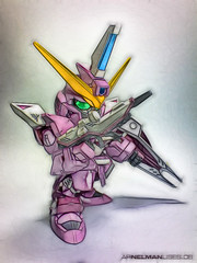 Drawn - SD Justice Gundam (NelMan) Tags: pink white green yellow toy justice purple philippines hobby plastic sd arnel kit bb gundam 2009 acm deformed bandai superdeformed gunpla nelman manlises arnelmanlises bb268 justicegundam