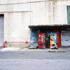 vending machines (shooting brooklyn) Tags: newyork tlr film brooklyn 160vc navyyard twinlensreflex portra160vc brooklynnavyyard minoltaautocord