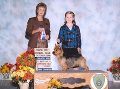 New Champion!  Dakota shown by owner/handler Ellie age 10.