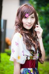 (swanky) Tags: portrait people woman cute girl beauty canon asian eos model asia pretty taiwan babe ntu  2009 taiwanese  minako   nationaltaiwanuniversity   5dmarkii 5d2 5dmark2