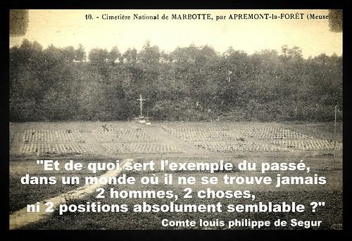 """Cimetiére de Marbotte (Meuse) - Auguste Lestret (07/02/1896 - Paris 8éme) mort pour la France le 17/07/1917 Combat d'Apremond la fôret (Bois Brûlé Meuse) - """"Croix de Bois et petit jardin sur le ventre"""""""