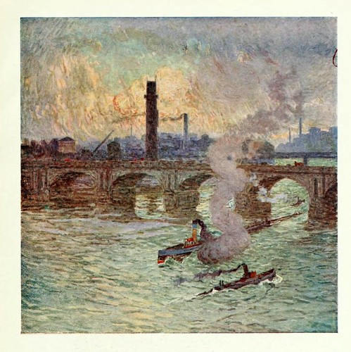 002-Pictures of London 1919- Tiempo borrascoso-pintura de Emile Claus