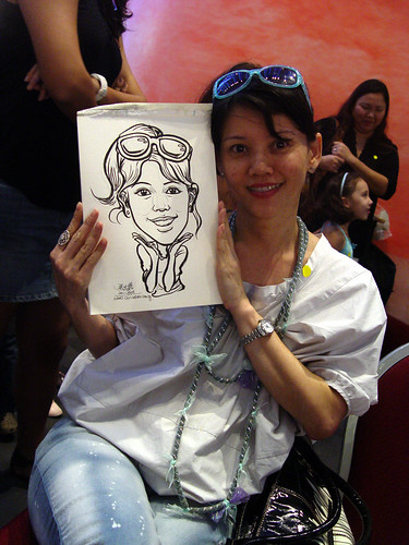 Caricature live sketching for Marina Square X'mas Tenants Gathering 2009 - 4