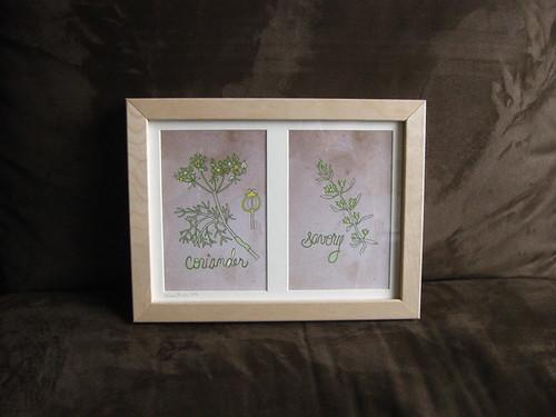 Coriander & Savory framed