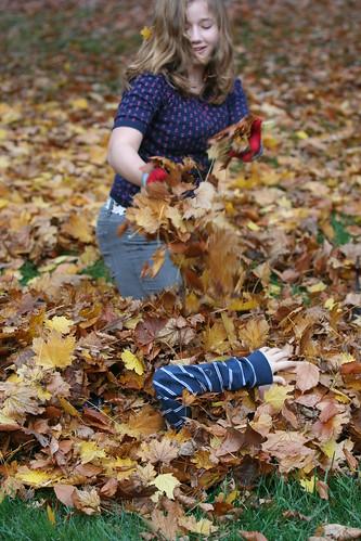 Leafy burial