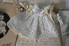 Lineage of Love (suzanneduda) Tags: baby white flower sepia vintage shoe dress heart crystal cabinet garland chandelier card photograph ribbon pearl rhinestone eyelet millinery oldcomputer