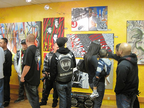 folks checkin out the gallery