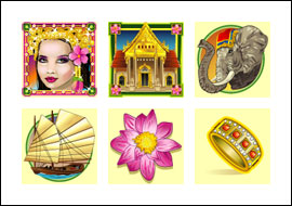 free Lady of the Orient slot game symbols