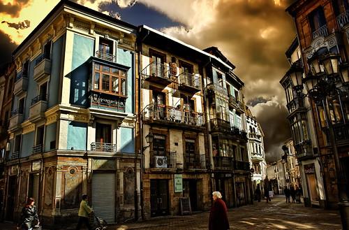 フリー画像| 人工風景| 建造物/建築物| マンション| 街角の風景| スペイン風景|      フリー素材|