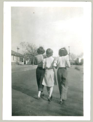Three women from rear