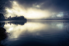 Smooth (Latyrx) Tags: light shadow sun mist lake color reflection nature water fog photoshop suomi finland landscape photography photo nikon shine graphic ripple stock perspective sigma finnish 1020mm sell 2009 depth hdr mikko resize latyrx d90 nikond90 hoyand8filter hoyacircularpolarizationfilter mikkolagerstedt