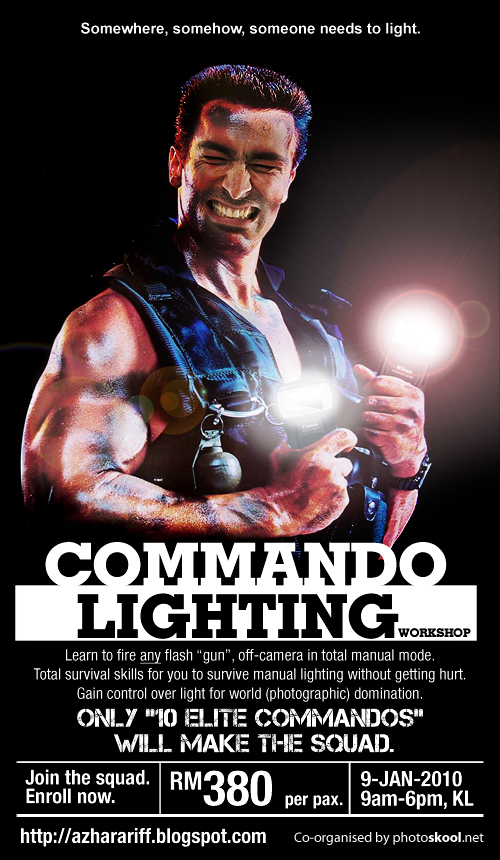 Poster: Commando Lighting Workshop