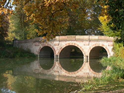 Bridge at Park Schonbusch near Aschaffenburg, Bavaria Germany