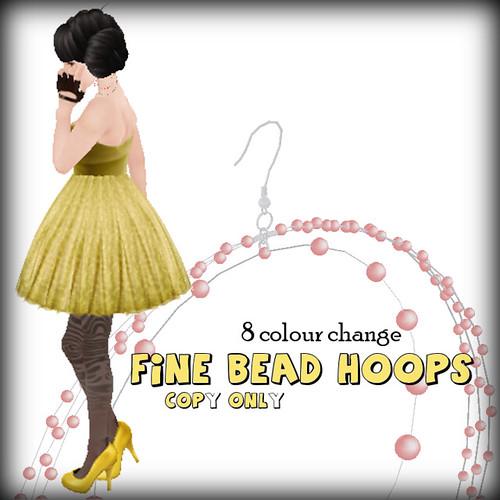 [ woo's! ] Fine Bead Hoops Ad
