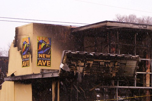 just up the pike: fire destroys former 50's-era theater in takoma