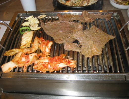 Barbecue Grill with Beef and Seafood