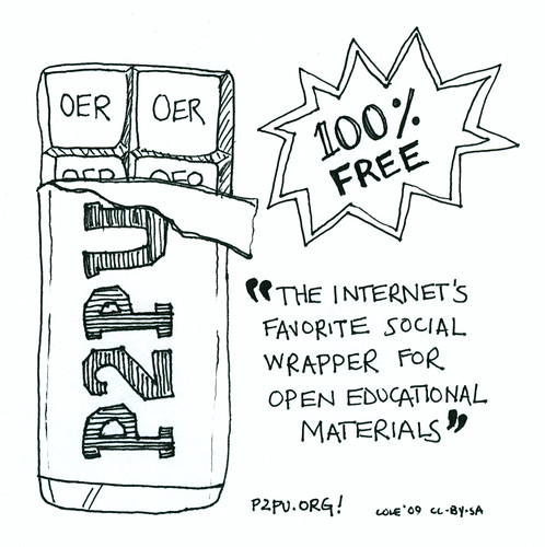 P2PU is Social Wrapper Cartoon