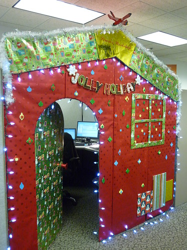 More Decorations - christmas work cubicle holiday workcube officespace ...
