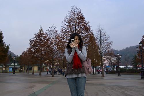 韓國之旅 寶貝乖 楓紅了