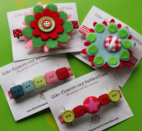 french barrette clips buttons