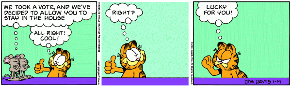 Garfield Minus Arbuckle, January 14, 2004