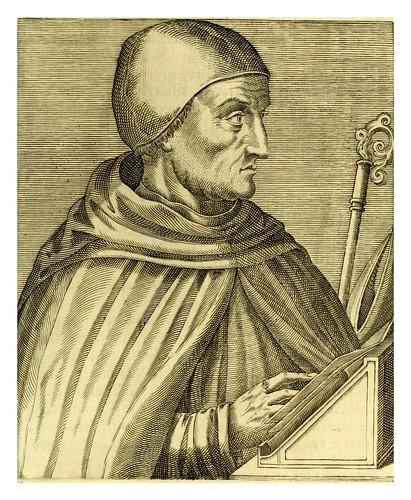 016-Alberto el Grande obispo de Ratisbona-Les vrais pourtraits et vies des hommes illustres grecz, latins et payens 1584-André Thevet