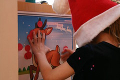 Pin the nose on the Rudolf