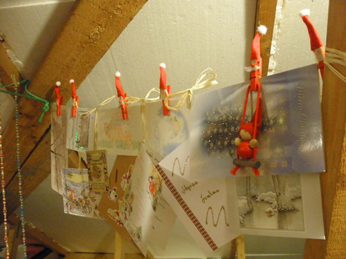 Our Christmas cards in the attic