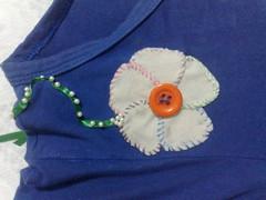 caiseta azul - G (Fabiana Fordiani) Tags: camisetascustomizadas floresdetecidoflor