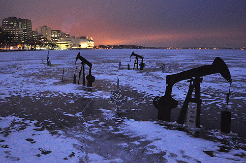 Oil Sure Must Be Running Low If They're Pumping It Out of Lake Monona