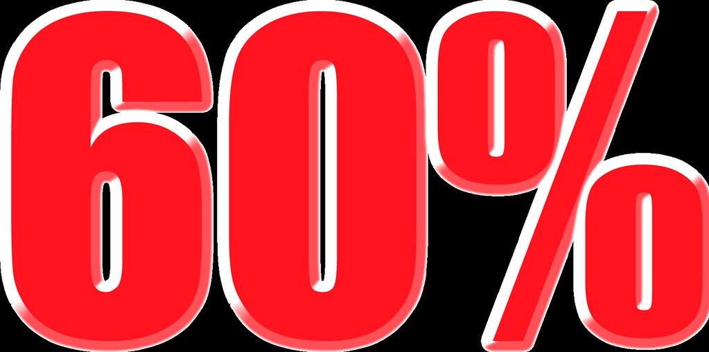 imagenes del 60% para carteles de rebajas