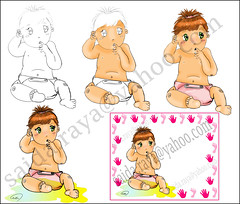 new born baby card (zoom_artbrush) Tags: new baby born card babycard    congrat