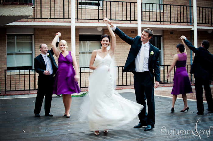 Cassy & Leon - Dancing Bridal Party (by Autumnleaf Photography)