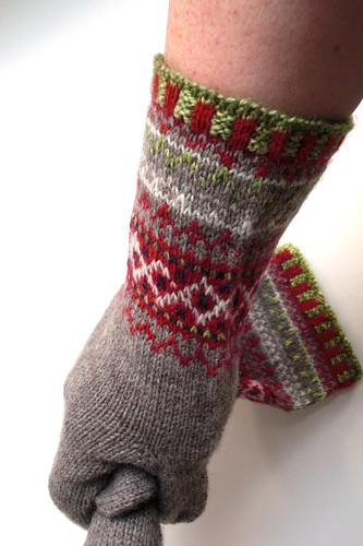 finished Meida's mittens