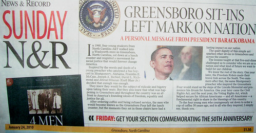 Obama on the Greensboro Four